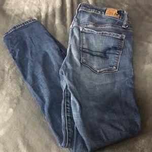 AEO super stretch skinny jeans, short